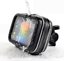 "5"" Waterproof Case Moto Bike Handlebar Mount Holder For Phones GPS Universal"