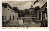 Bad Liebenstein alte AK 1940 gelaufen Partie am Badehaus mit Hotel Kaiserhof
