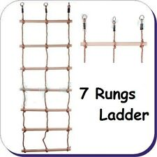 KIDS DOUBLE LADDER 7 Rungs! Rope Ladder for CLIMBING FRAME accessories FREE P&P!