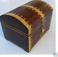 Boîte à trésors Coffre au trésor coffre avec Serrure 29x21x21 cm