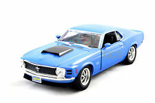 MOTORMAX 1970 FORD MUSTANG BOSS 429 BLUE / BLACK New witout Box 1/24 Diecast car