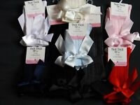 NEWBORN TO CHILD KNEE LENGTH  GIRL  BOW SOCKS