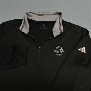 ADIDAS STRETCH POLY SPANDEX  1/4 ZIP GOLF PULLOVER--BLACK BEAR --TOP QUALITY!!