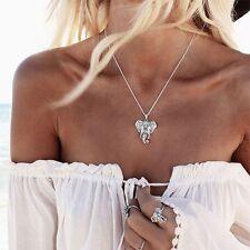 9k Real Blanco relleno de oro para Mujer Collar Colgante de Elefante..