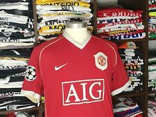 MANCHESTER UNITED home 2006/07 shirt LARSSON #17-Sweden-Celtic-Barcelona-Jersey