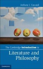 The Cambridge Introduction To Literature And Philosophy (cambridge Introducti...