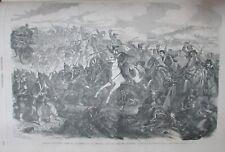BATAILLE MILITAIRE SOLDATS  AUTRICHE PRUSSE  GRAVURE L UNIVERS ILLUSTRE de 1866