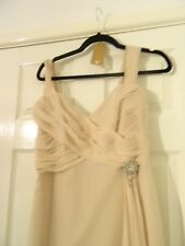 lovely blush/soft coffee bridesmaid / prom dresses-size 8 ALSO HAVE A 10