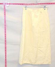 Vintage Christian Dior Off-White Linen Blend Maxi Skirt Sz 12  #6016 B-213