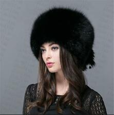 new Genuine Real fashion Winter Women fox fur New Hat Cap Headgear Beanie B2