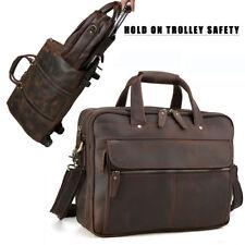 """TIDING 15.6"""" Leather Business Laptop Men's Shoulder Bag - Brown"""