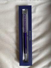 Swarovski Ball Point Pen Crystal Stardust New With Box Dark Purple