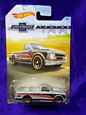 Hot Wheels '67 Chevy C10 Pickup Chevrolet Trucks #3/8 Silver Diecast 1:64 Scale