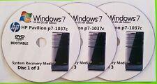 HP Pavilion p7-1037c Factory Recovery Media 3-Discs / Windows 7 Home 64-bit