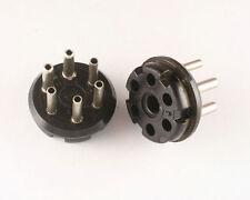 Wire Pro 86CP6 Amphenol 6 Pin Octal Style Plug Black Phenolic Heathkit