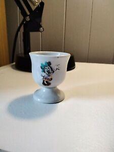 VINTAGE MINNIE MOUSE VINTAGE   POTTERY CHILDREN'S EGG CUP