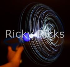 Flashing Fiber Optic Gun Space Toy LED Light Up Kids Spinning Pistol with Sound