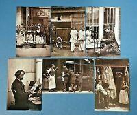 Set of 6 London 1877 Street Life Repro Postcards England Social History Set 3