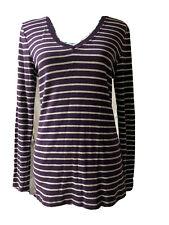 Gap L Super Soft Purple Striped Sweater