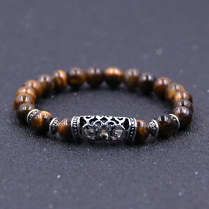 Fashion Natural Stone 8mm Gemstone Beads Women Men Bracelets Charm Jewelry Gift