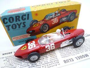 VINTAGE CORGI 154 FERRARI F1 RACING CAR IN ORIGINAL BOX ISSUED 1963-72