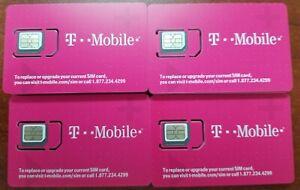 TMobile TRIPLE CUT SIM 4G LTE. Unactivate, Replacement Sim. Samsung S7/S8/s9/s10
