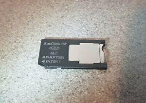 *UK* Original SanDisk Adapter M2 Memory Stick to Ms Pro Duo PSP SONY Cameras