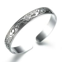 925 Sterling Silver Cuff Tree Of Life Fashion Bracelet for Women Jewelry Gifts