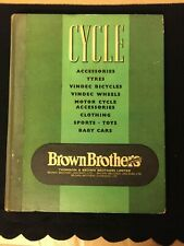 Vintage Bicycle - Brown Brothers Catalogue - 1956 - British Industry Collectable