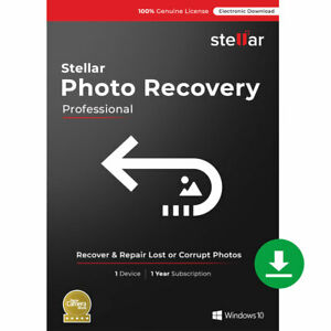 Stellar Photo Recovery Professional - Windows   1 PC 1 Year   Email Delivery