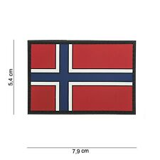 PVC Norwegen Patch Klett Abzeichen Airsoft Paintball Softair
