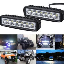 18W 6INCH LED WORK LIGHT BAR OFFROAD FLOOD DRIVING AUTO TRUCK UTE 4WD LAMP SE