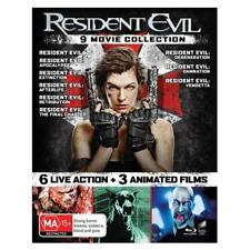 Resident Evil 9 Movie Collection Blu Ray - 6 Live Action 3 Animated