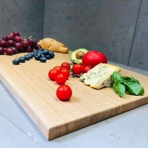 Extra Large Solid Oak Chopping Board Untreated Wood 600x400x20mm Pastry Board