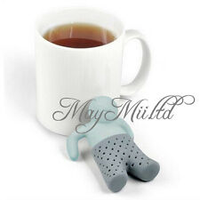 Cute Mr.Tea Infuser Silicone Tea Leaf Strainer Herbal Spice Filter Diffuser O