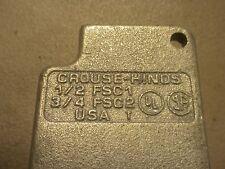 "Crouse-Hinds FSC1 1/2"" Single Gang Cast Device Box Condulet"