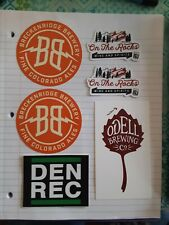 Colorado brewery stickers- mancave
