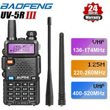 Upgraded BAOFENG UV-5R III Tri-Band Walkie Talkie Long Range Two Way Ham Radio