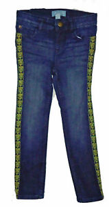 Baby Gap Factory Blue Denim Gold Trim Skinny Fit Jeans 4 Years 4T $33 NWT