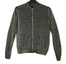 BLACK SILVER LADIES PARTY EVENING TOP CARDIGAN SIZE 8 ATMOSPHERE STRETCH