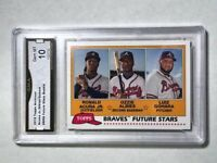 Ronald Acuna Jr. Ozzie Albies - 2018 Topps Archives Future Stars GRADED MINT 10