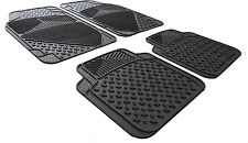 Rubber and Carpet Car Floor Foot Well Mats For VAUXHALL VECTRA Mk II C 2000>2008
