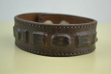 Diesel Adiso Bracciale bracelet  Neu used look braun Leder Leather