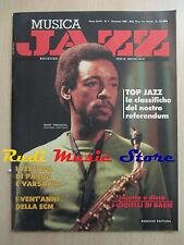 Rivista MUSICA JAZZ 1/1990 Henry Threadgill Count Basie Marcus Roberts * No cd