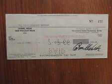 "CORNEL  WILDE(Died-1989)(""THE  NAKED  PREY"")Signed Cancelled 1966 Personal Check"