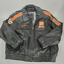 TONY STEWART XL HOME DEPOT #20 lined/Insulated Leather Jacket Nascar
