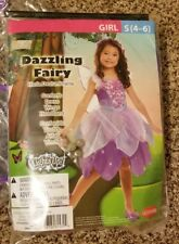 Dazzling Fairy Light-Up Girl's Halloween Dress-Up Costume Purple Small (4-6)
