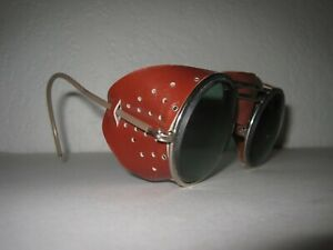 Vintage Willson Safety Goggles Glasses Sunglasses Motorcycle Welding