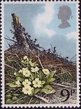 Timbres avec 9 timbres avec 9 timbres sur fleurs