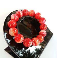 Bracelet en Agate Rouge Pierre Minéral Naturelle Bijoux lithothérapie